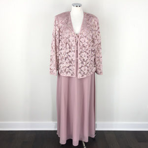 R&M Richards 18W Mauve Pink Formal Dress Jacket